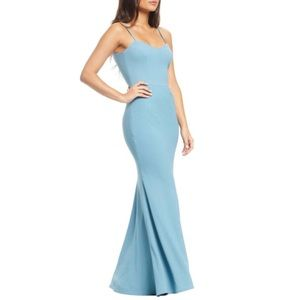 NWT Sea Breeze Jodi Crepe Evening Formal Dress- S